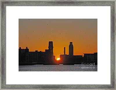 Sunrise And The City Framed Print
