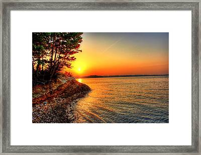 Sunrise Around The Bend Framed Print