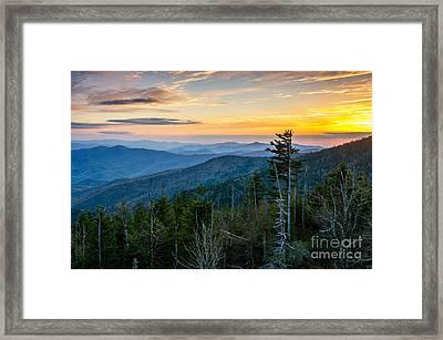Sunset At 6200 Ft Framed Print