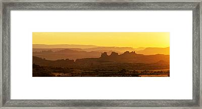 Sunrise At Arches  Framed Print
