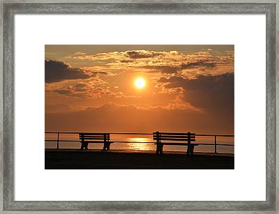 Sunrise At Asbury Park Framed Print by Bill Cannon