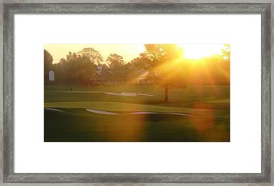 Sunrise At Augusta National Framed Print by Bo  Watson
