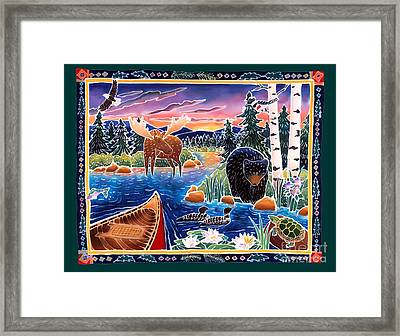Sunrise At Bear Lake Framed Print by Harriet Peck Taylor