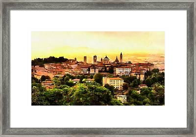 Sunrise At Bergamo Framed Print