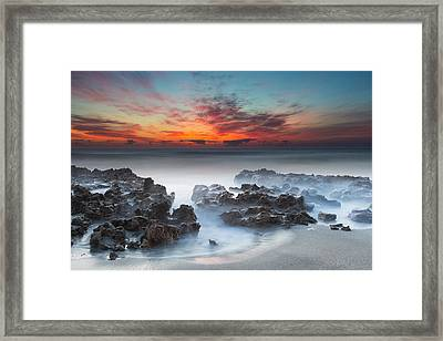 Sunrise At Blowing Rocks Preserve Framed Print