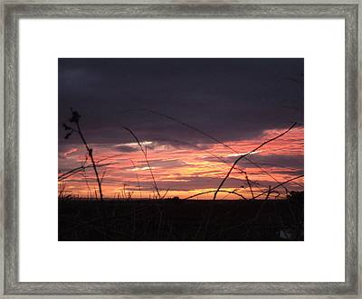 Framed Print featuring the photograph Sunrise At Boroughbridge by Martin Blakeley