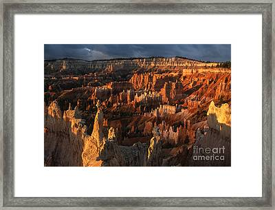 Sunrise At Bryce Canyon Framed Print by Sandra Bronstein