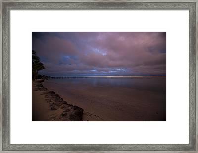 Sunrise At Cheeca Lodge Framed Print by Patsy Zedar