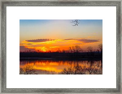 Sunrise At Clear Creek Framed Print