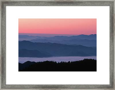 Sunrise At Clingmans Dome, Great Smoky Framed Print