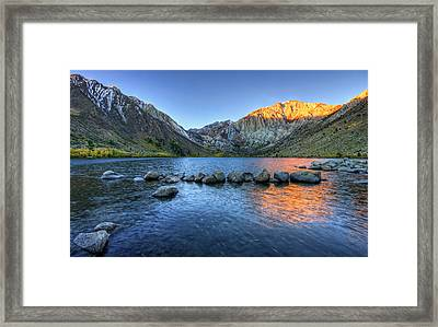 Sunrise At Convict Lake Framed Print