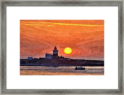 Sunrise At Coquet Island Northumberland - Photo Art Framed Print