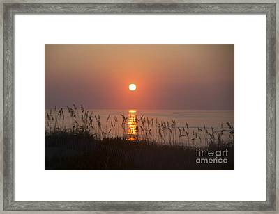 Sunrise At Corolla Outer Banks North Carolina Framed Print by Diane Diederich