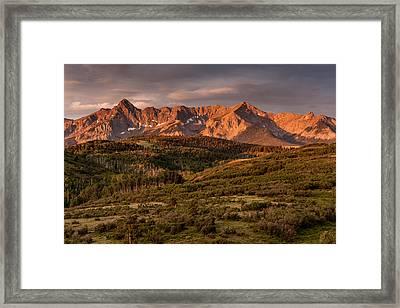 Sunrise At Dallas Divide Framed Print by Jay Stockhaus