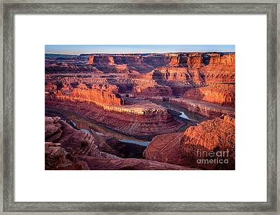 Sunrise At Dead Horse Point Framed Print by Bob and Nancy Kendrick