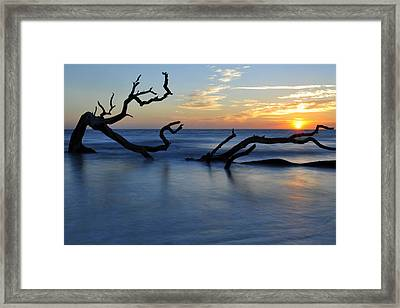 Sunrise At Driftwood Beach 7.3 Framed Print by Bruce Gourley
