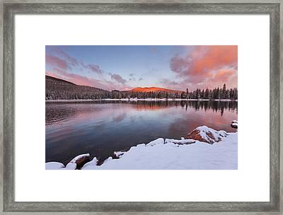 Sunrise At Echo Lake Framed Print by Darren  White