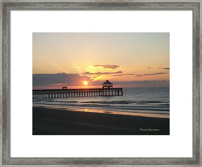 Sunrise At Folly Beach Framed Print by Paula Rountree Bischoff