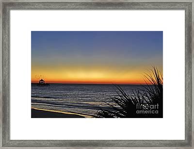 Sunrise At Folly Framed Print