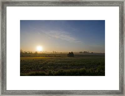 Sunrise At Gettysburg National Park Framed Print by Bill Cannon