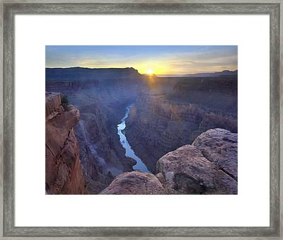 Sunrise At Grand Canyon National Park Framed Print by Tim Fitzharris