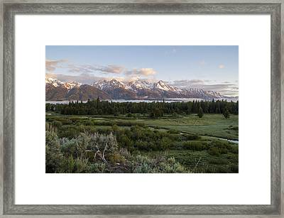 Sunrise At Grand Teton Framed Print by Brian Harig