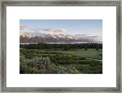 Sunrise At Grand Teton Framed Print