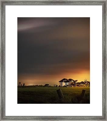 Sunrise At Harkers Island Framed Print