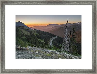 Sunrise At Hurricane Ridge - Sunrise Peak Framed Print by Charlie Duncan
