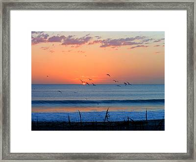 Sunrise At Indialantic Framed Print