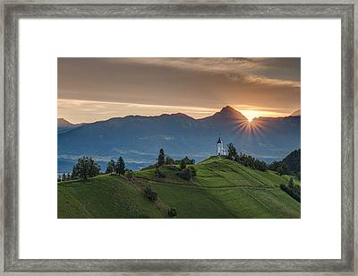 Sunrise At Jamnik Framed Print by Robert Krajnc