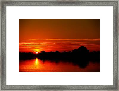 Sunrise At Jefferson Memorial Framed Print by Metro DC Photography