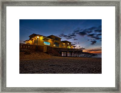 Sunrise At Johnnie Mercer's Pier Framed Print
