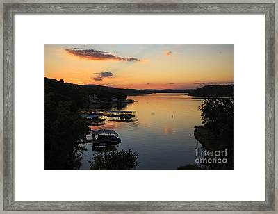 Sunrise At Lake Of The Ozarks Framed Print by Dennis Hedberg