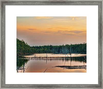 Sunrise At Lake Oswego Framed Print by Kristia Adams