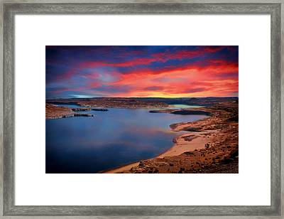Sunrise At Lake Powell Framed Print by Mountain Dreams