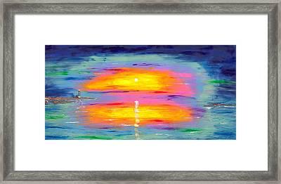 Sunrise At Lighthouse Point Framed Print by Jessilyn Park