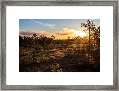 Sunrise At Linnaistensuo Framed Print by Janne Mankinen