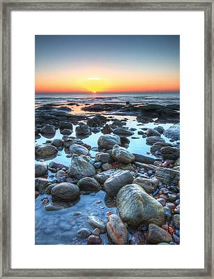 Sunrise At Low Tide Framed Print