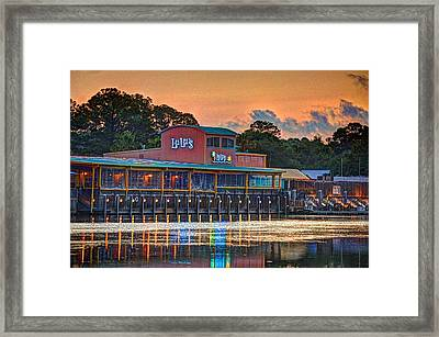 Sunrise At Lulu's Framed Print