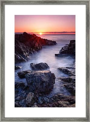 Sunrise At Marginal Way Framed Print
