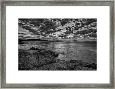 Sunrise At Monument Cove Framed Print by Jeff Sinon