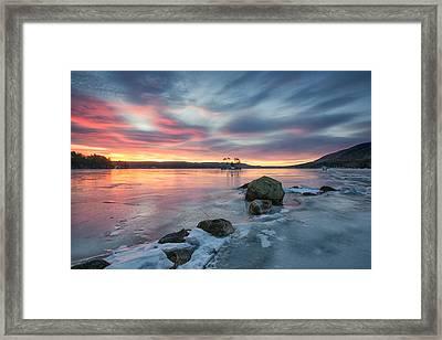 Sunrise At Moose Pond  Framed Print by Darylann Leonard Photography
