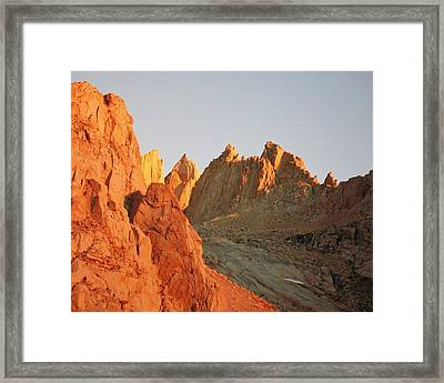Sunrise At Mount Whitney Framed Print