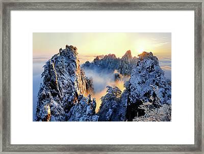 Sunrise At Mt. Huang Shan Framed Print