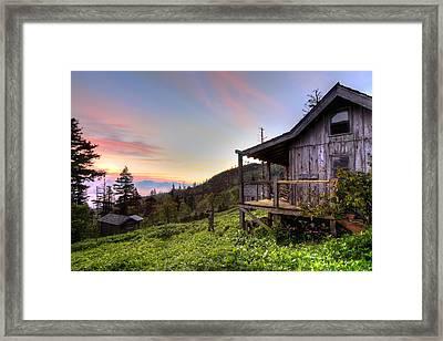 Sunrise At Mt Leconte Framed Print by Debra and Dave Vanderlaan