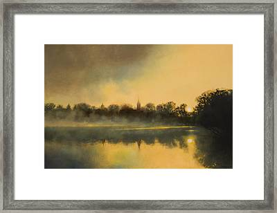 Sunrise At Notre Dame Sold Framed Print by Cap Pannell
