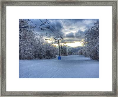 Sunrise At Okemo Mountain Framed Print