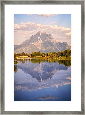 Sunrise At Oxbow Bend 2 Framed Print by Marty Koch