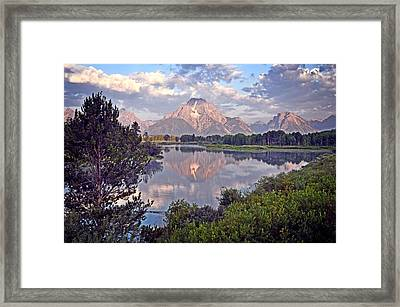Sunrise At Oxbow Bend 4 Framed Print